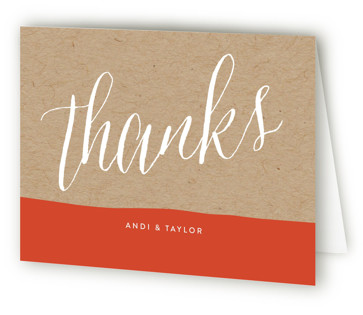 Paint Dipped Thank You Cards