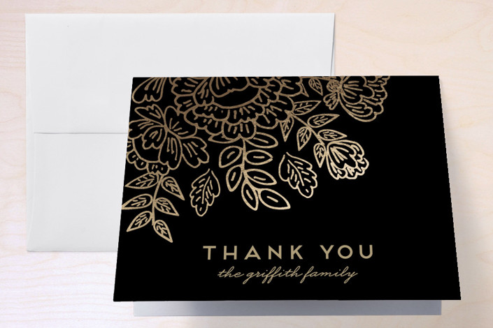 """""""Course De Elegance"""" - Thank You Cards in Midnight by Chris Griffith."""