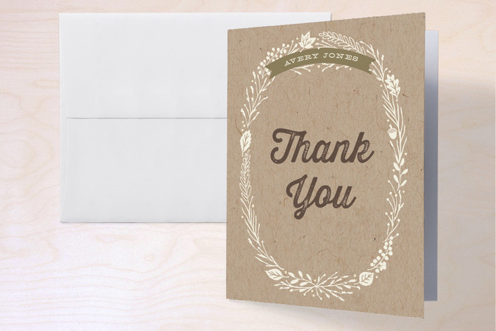 """Farm-To-Table Dinner Party"" - Thank You Cards in Kraft by Hooray Creative."