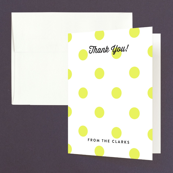 """Modern Fun"" - Preppy, Whimsical & Funny Thank You Cards in Lemon Drop by Jill Means."