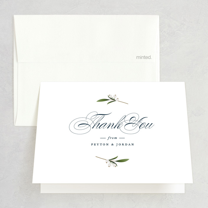 """""""Adorned Ampersand"""" - Thank You Cards in Cotton by Jennifer Postorino."""