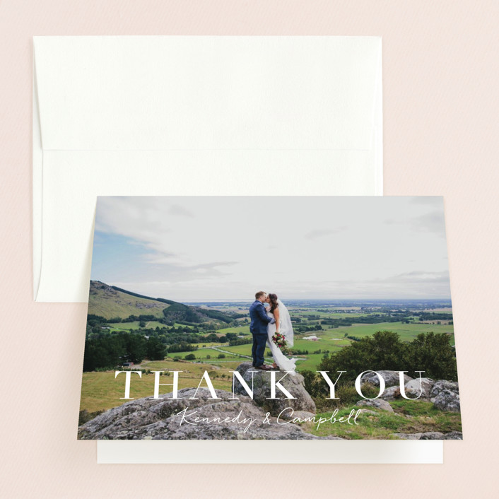 """""""Wedding Stamp"""" - Thank You Cards in Navy by Kasia Labocki."""