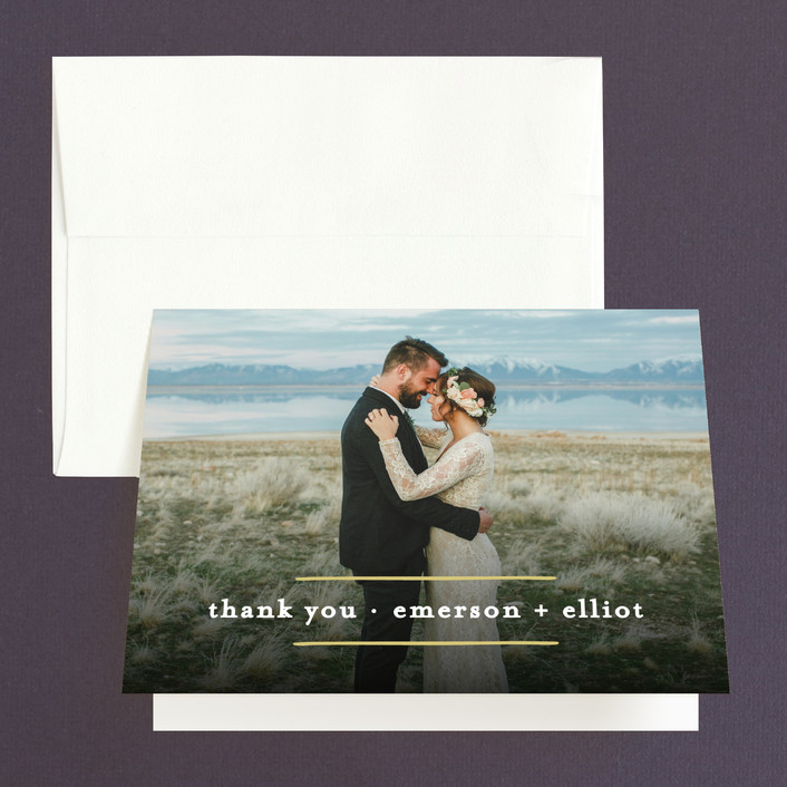 """""""Mod Lines"""" - Thank You Cards in Sea by Alethea and Ruth."""