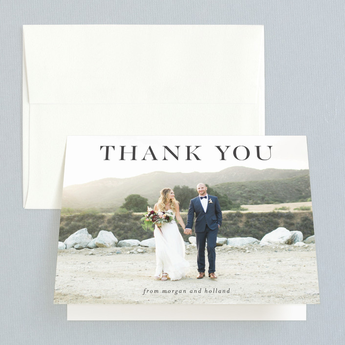 """instilled"" - Thank You Cards in Pearl by Design Lotus."