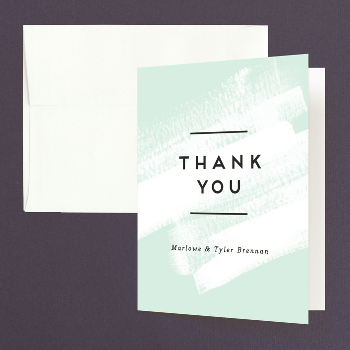 """""""Museum quality"""" - Thank You Cards in Teal by Jennifer Wick."""