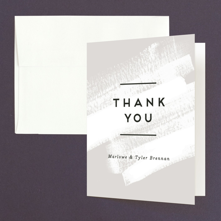 """""""Museum quality"""" - Folded Thank You Card in Teal by Jennifer Wick."""