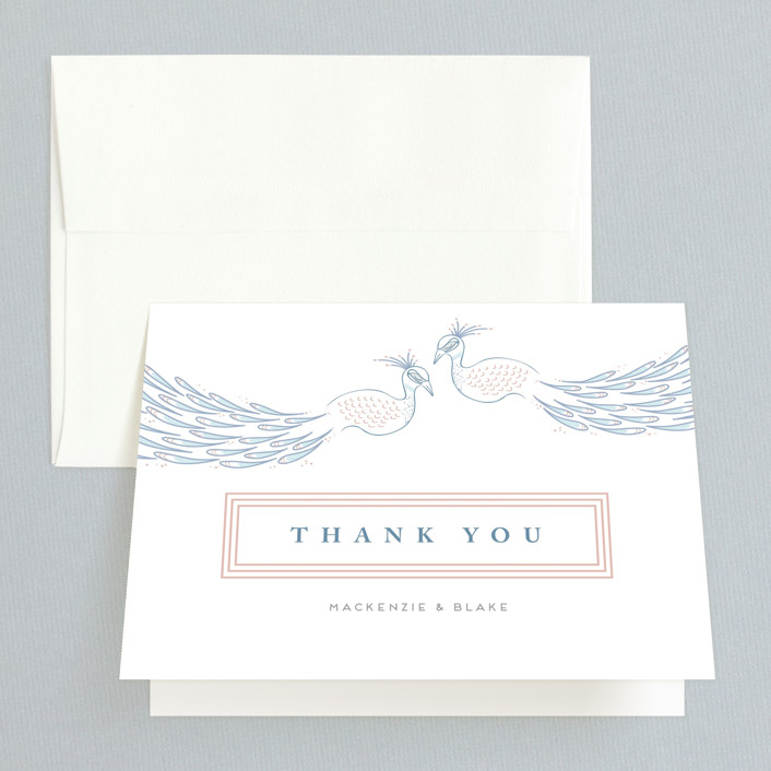 """cicogne"" - Thank You Cards in Cornflower by chocomocacino."