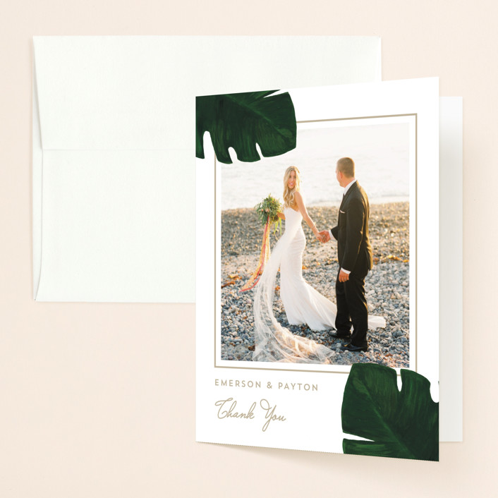 """""""Palm"""" - Thank You Cards in Classic Palm by Kaydi Bishop."""