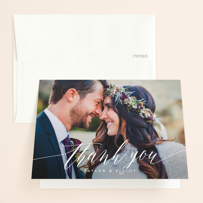 """Effervescent"" - Thank You Cards in Blush by Kristie Kern."