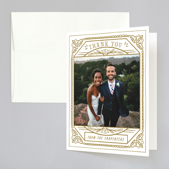 """Ink Detailing Frame"" - Vintage Thank You Cards in Ink by Shiny Penny Studio."