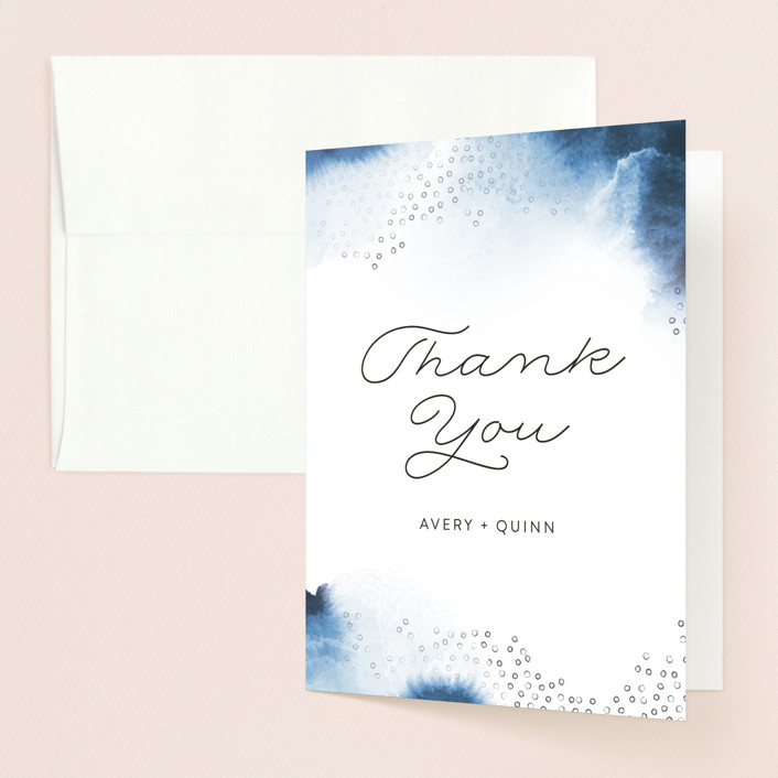 """Watercolor Dots"" - Thank You Cards in Agate by Maria Hilas Louie."