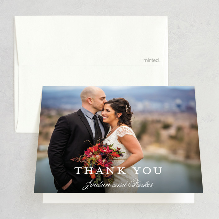 """Flawless"" - Thank You Cards in Midnight by Kimberly FitzSimons."