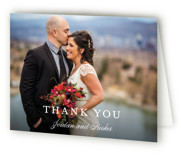 This is a blue wedding thank you card by Kimberly FitzSimons called Flawless with standard printing on strathmore in standard.