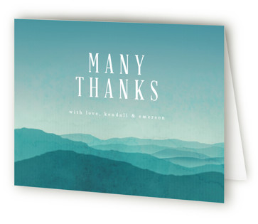Misty Mountain Range Thank You Cards