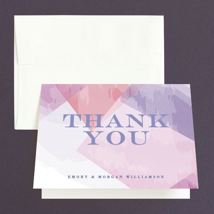 """""""wash of color"""" - Thank You Cards in Lilac by Karidy Walker."""