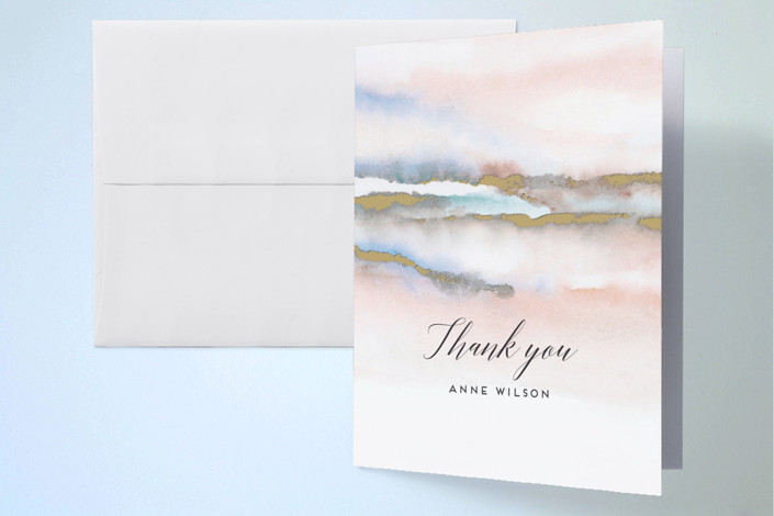 """Hidden Gem"" - Thank You Cards in Blush by Petra Kern."