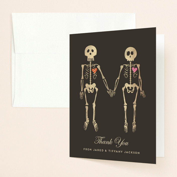 """Until Death"" - Thank You Cards in Golden by Katie Zimpel."