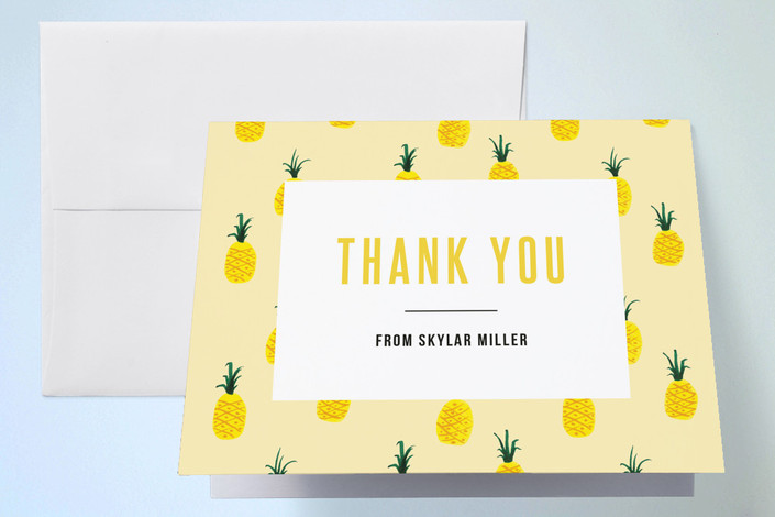 """""""Jamba"""" - Thank You Cards in Pineapple by chocomocacino."""