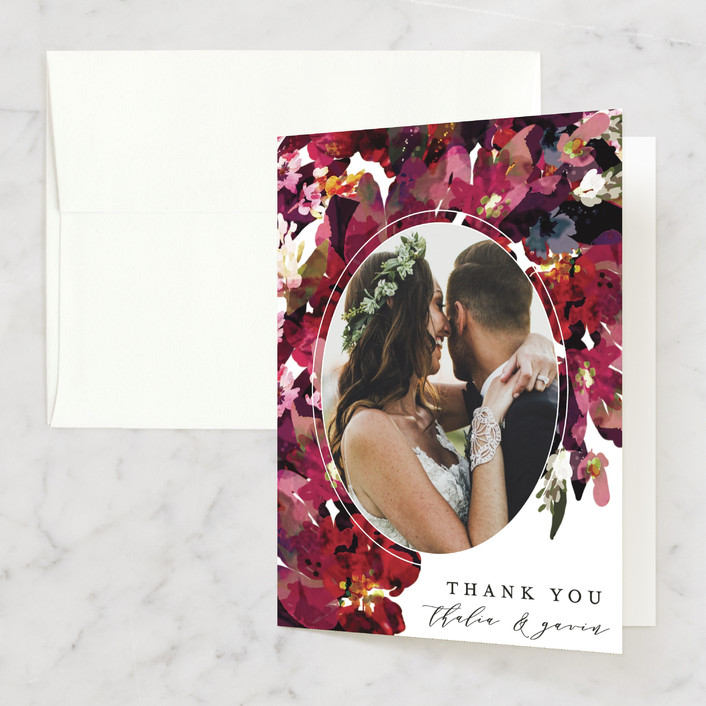 """""""Tidal Blooms"""" - Thank You Cards in Holly by Grace Kreinbrink."""