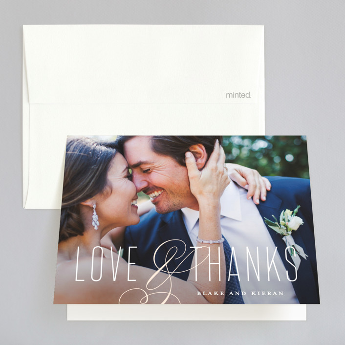 """Today & Always"" - Thank You Cards in Peach by Stacey Meacham."