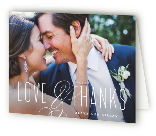 This is a classic and formal, orange Wedding Thank You Cards by Stacey Meacham called Today & Always with Standard printing on Standard Cover in Card fold over (blank inside) format. A modern, elegant wedding invitation with large flourished ampersand ...