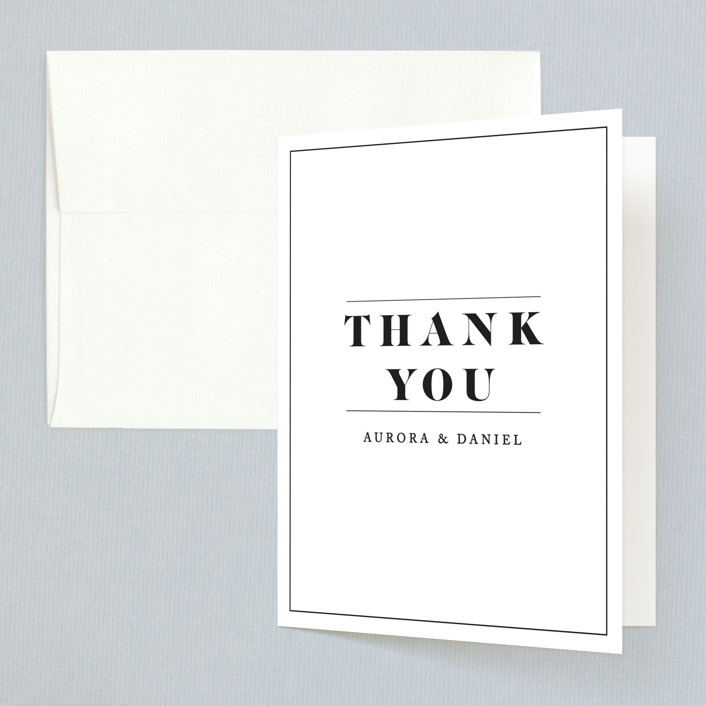 """""""Prelude"""" - Monogram Thank You Cards in Vanilla by Nazia Hyder."""