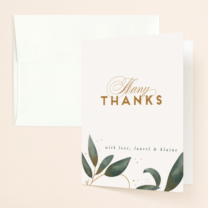 """""""Love Grows"""" - Thank You Cards in Leaf by Leah Bisch."""