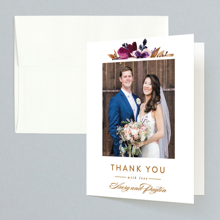 """Fall romance"" - Thank You Cards in Jewelled by Sweta Modi."