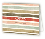 This is a red wedding thank you card by Wildfield Paper Co. called Candy Cane Stripes with standard printing on strathmore in standard.