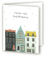This is a colorful wedding thank you card by Julie Murray called Main Street with standard printing on strathmore in standard.