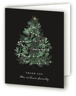 This is a black wedding thank you card by Corinne Malesic called Heaven And Nature with standard printing on strathmore in standard.