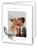 This is a green wedding thank you card by Petra Kern called Maya Rustica with standard printing on strathmore in standard.