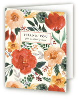 This is a green wedding thank you card by Beth Schneider called Flourishing with standard printing on strathmore in standard.