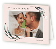 This is a orange wedding thank you card by Petra Kern called Rustica with standard printing on strathmore in standard.
