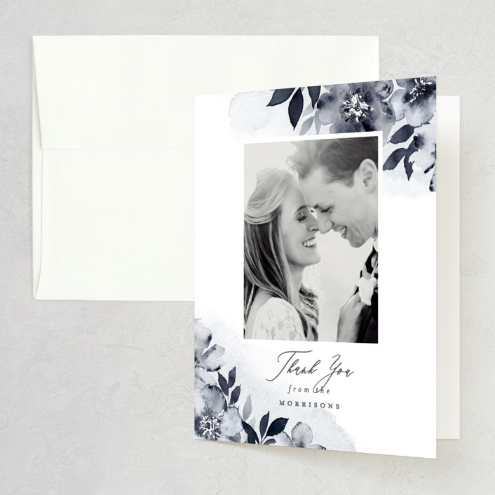 """""""Fancifully"""" - Thank You Cards in Navy by Everett Paper Goods."""