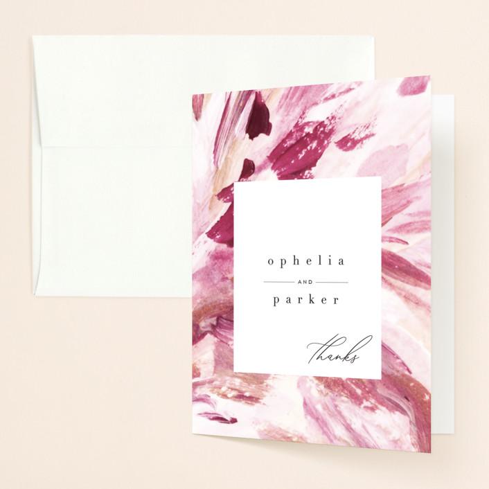 """""""pollen"""" - Folded Thank You Card in Petal by Robin Ott."""