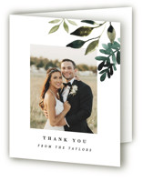 This is a green wedding thank you card by Alethea and Ruth called Clearing with standard printing on strathmore in standard.