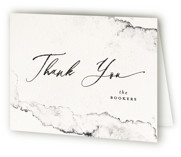 This is a black and white wedding thank you card by Pink House Press called Inky with standard printing on strathmore in standard.