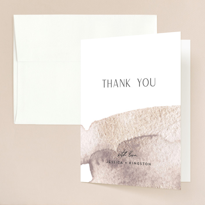 """""""requiem"""" - Folded Thank You Card in Zen by christina enciso."""