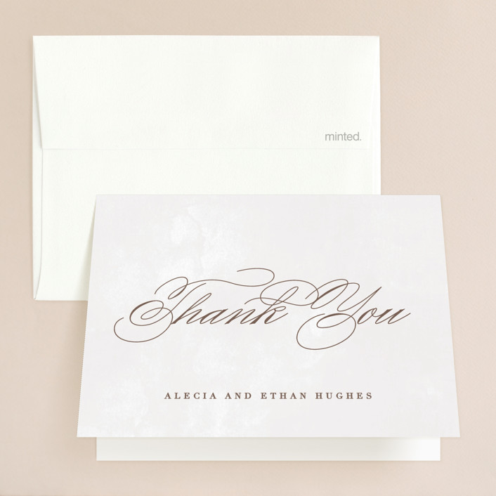 """""""Sonesta"""" - Folded Thank You Card in Mineral by Hooray Creative."""