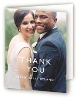 This is a black and white wedding thank you card by That Girl Press called Ordered Grace with standard printing on strathmore in standard.