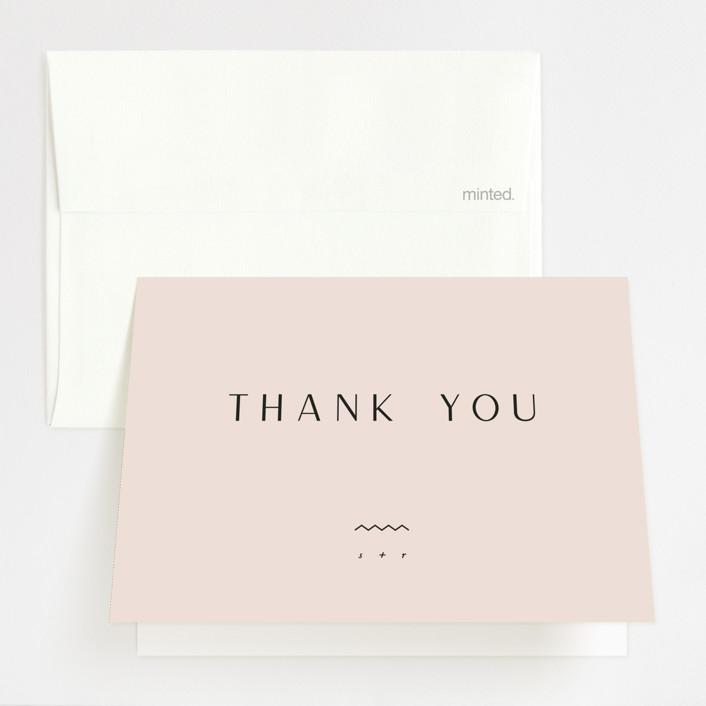 """Adora"" - Thank You Cards in Dawn by Leah Bisch."