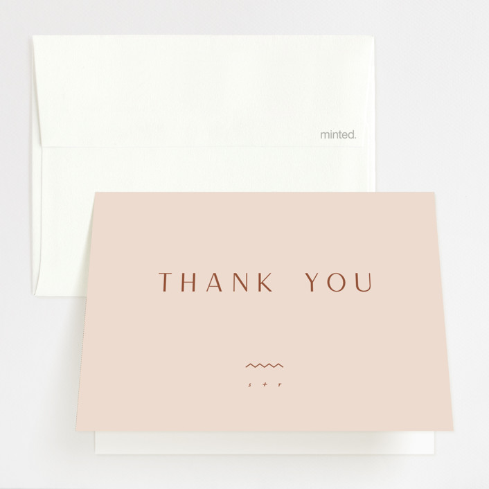 """""""Adora"""" - Folded Thank You Card in Dawn by Leah Bisch."""
