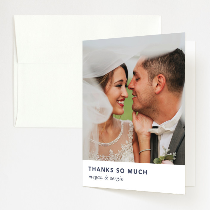 """""""tissue union"""" - Modern Folded Thank You Card in Cucumber by Carrie Moradi."""