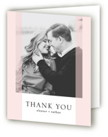 This is a pink wedding thank you card by Erin Deegan called Transparent with standard printing on strathmore in standard.