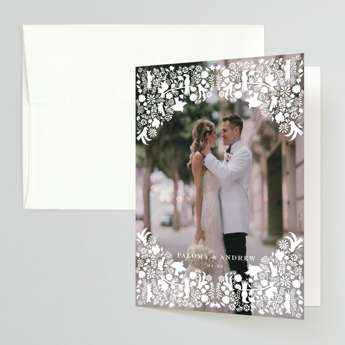 """""""Hacienda"""" - Thank You Cards in Stone by Lagniappe Paper."""