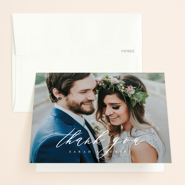 """""""Corison"""" - Folded Thank You Card in Classic by Kelly Schmidt."""