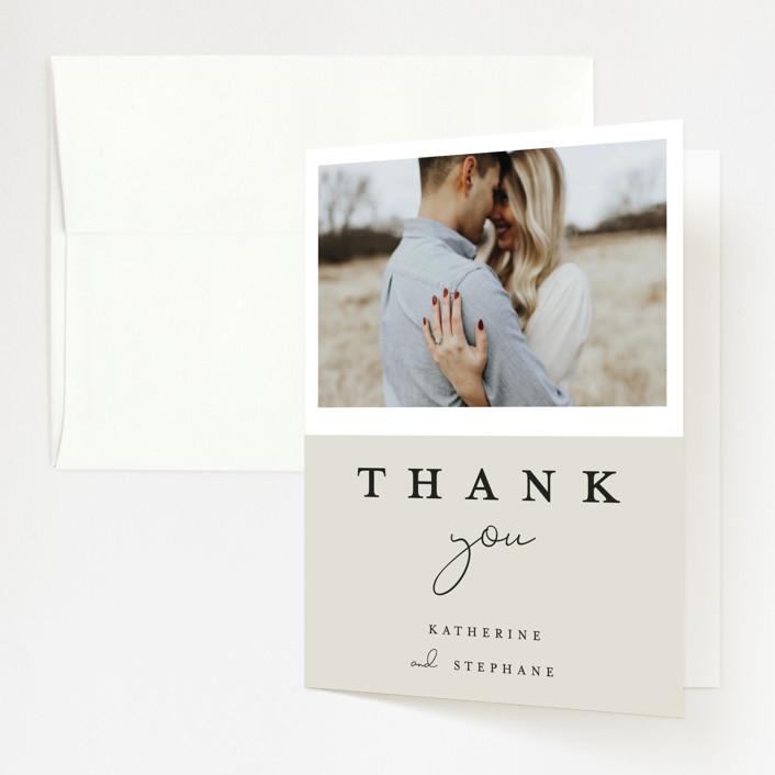 """sweet sweet elegance"" - Folded Thank You Card in Dutch Cream by frances."
