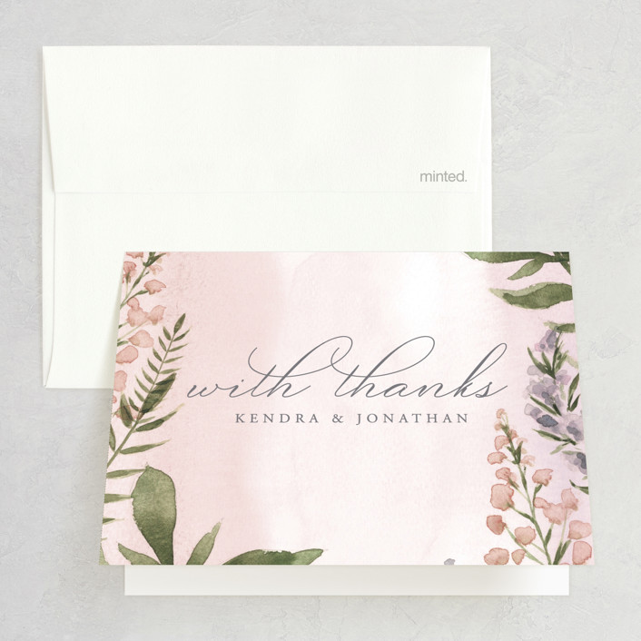 """""""Spring Wildflowers"""" - Folded Thank You Card in Garden by Christie Elise."""