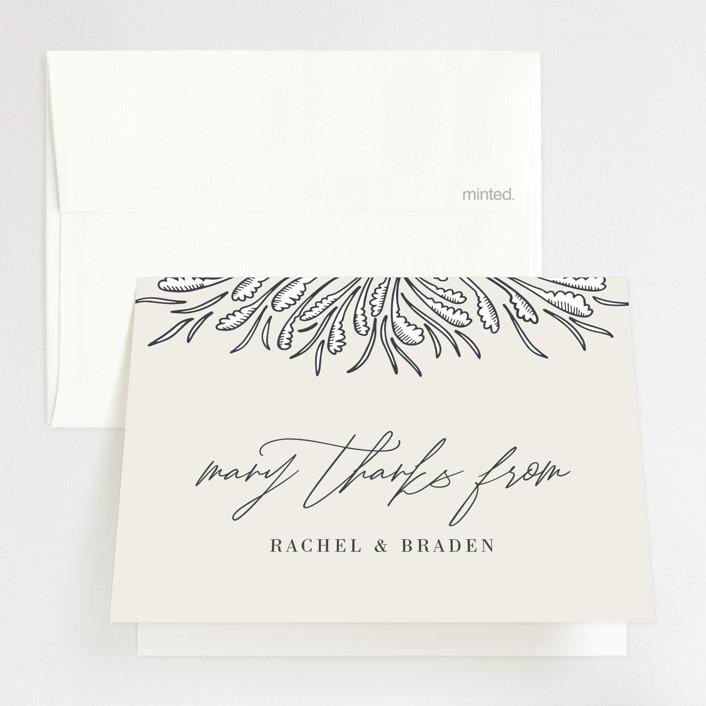 """""""FancySchmancy"""" - Folded Thank You Card in Classic by Jen Owens."""